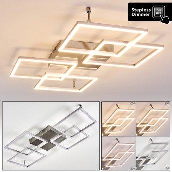 Veyrier Lámpara de Techo LED Acero bruñido, 4 luces