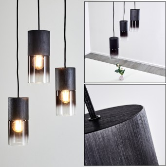 Kuparuk Lámpara Colgante Negro, 3 luces