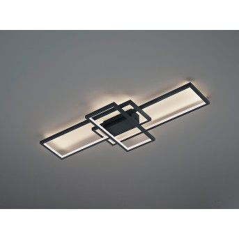 Trio THIAGO Lámpara de Techo LED Antracita, 1 luz, Mando a distancia, Cambia de color