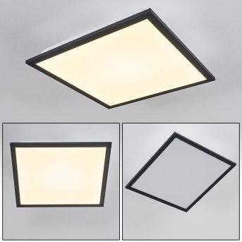 Salmi Lámpara de Techo LED Negro, Blanca, 1 luz