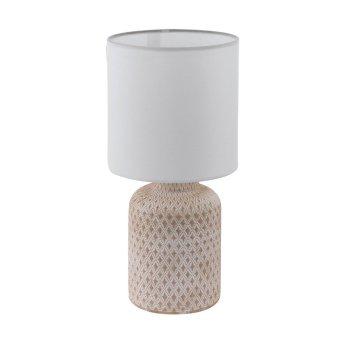 Eglo BELLARIVA Lámpara de Mesa Blanca, Rosa, 1 luz