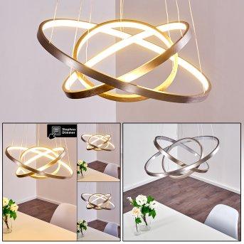 Canisteo Lámpara Colgante LED Níquel-mate, 3 luces