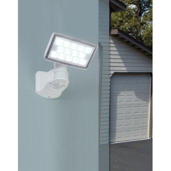 Lutec PERI Foco de pared para exterior LED Blanca, 1 luz, Sensor de movimiento