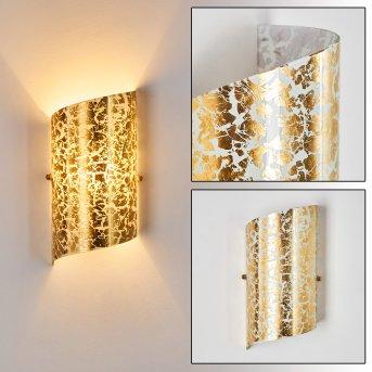 Pordenone Aplique dorado, 1 luz