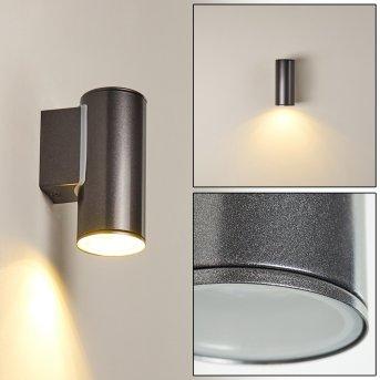 Brachy Aplique para exterior LED Negro, 2 luces