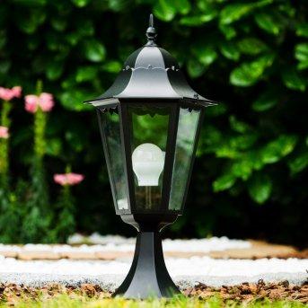 Poste de jardin Negro, Transparente, claro, 1 luz