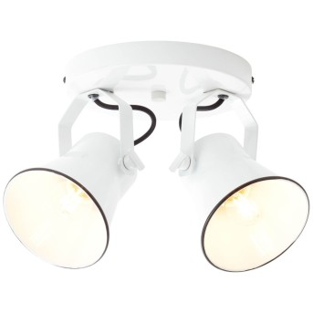 Brilliant Croft Lámpara focos Blanca, 2 luces