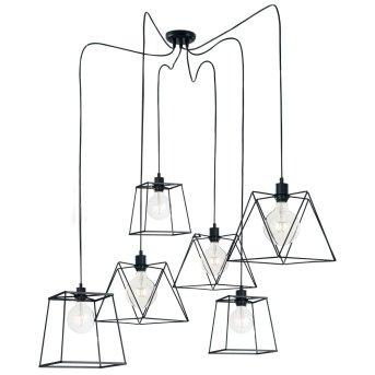 Lutec BROOKLYN Lámpara Colgante Negro, 6 luces