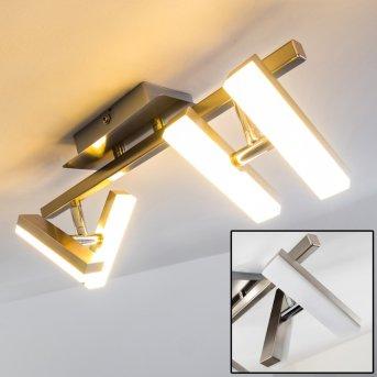 Sakami Lámpara de techo LED Níquel-mate, 4 luces
