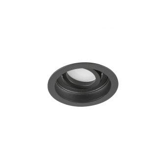 Trio Kenai Lámpara empotrable LED Negro, 1 luz