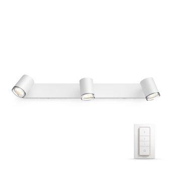 Philips Hue Ambiance White Adore Foco Blanca, 3 luces, Mando a distancia