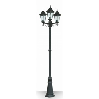 Lutec BRISTOL Candelabro Negro, 3 luces