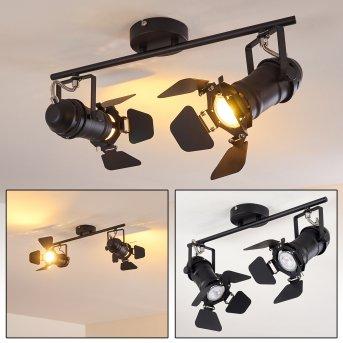 Lichinga Lámpara de Techo Negro, 2 luces