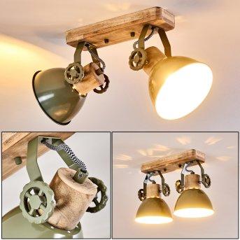 Orny Lámpara de Techo Verde, 2 luces