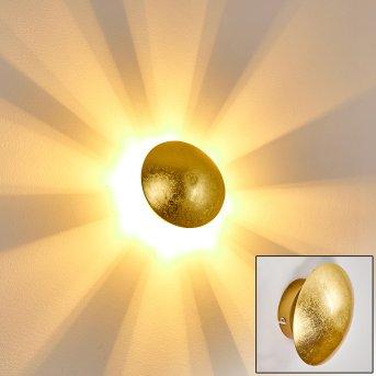 Mezia Aplique dorado, 1 luz