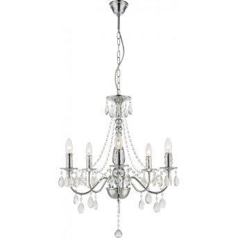 Globo Lámpara de araña Cromo, 5 luces