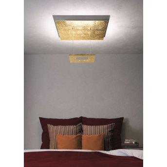 Escale ZEN D2W Lámpara de Techo LED dorado, 4 luces