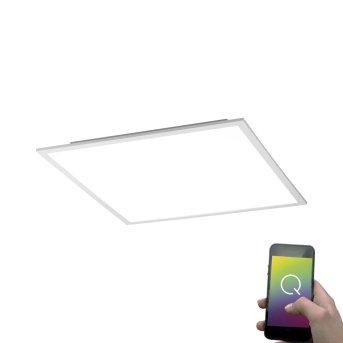Lámpara de Techo Paul Neuhaus Q-Flag LED Blanca, 1 luz, Mando a distancia