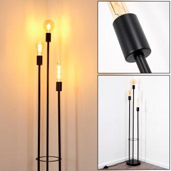Maidford Lámpara de Pie Negro, 3 luces