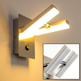 Sakami Aplique LED Níquel-mate, 2 luces
