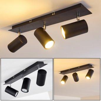 Lámpara de Techo Zuoz Cromo, Negro, 3 luces