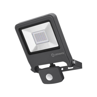 LEDVANCE POLYBAR Aplique para exterior Gris, 1 luz, Sensor de movimiento