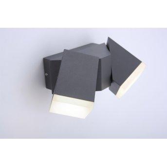 Paul Neuhaus RYAN Aplique LED Antracita, 2 luces