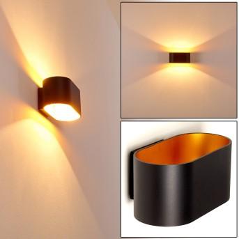 Aplique Dapp Negro-dorado, 1 luz