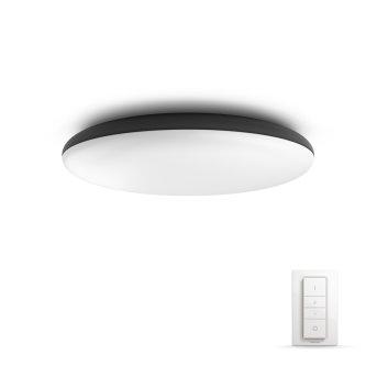 Philips Hue Ambiance White Cher Lámpara de Techo LED Negro, 1 luz, Mando a distancia