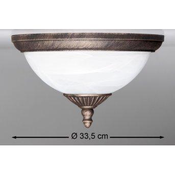 Rabalux Madrid Lámpara de techo para exterior Blanca, 2 luces