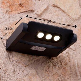 Lutec LEADSPOT Aplique para exterior LED Antracita, 3 luces