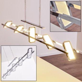 Gravendal Lámpara Colgante LED Cromo, 5 luces