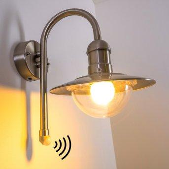 Elima Aplique para exterior Acero inoxidable, 1 luz, Sensor de movimiento