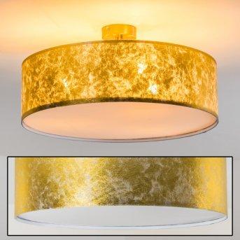 Foggia Lámpara de techo dorado, 3 luces