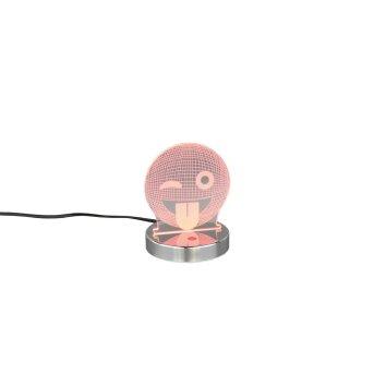Reality SMILEY Lámpara de Mesa LED Cromo, 1 luz, Cambia de color