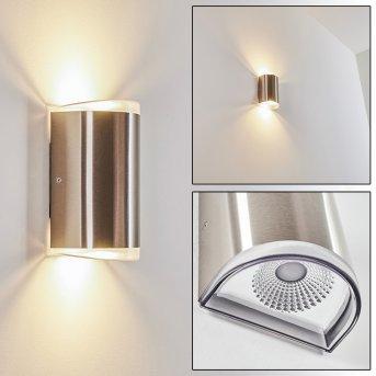 Rumar Aplique para exterior LED Acero inoxidable, 1 luz