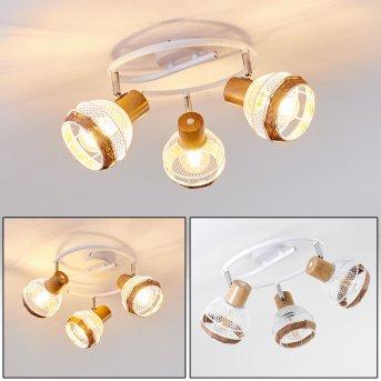 Bariloche Lámpara de Techo Cromo, Blanca, 3 luces