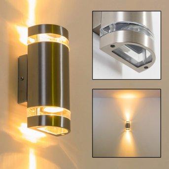 Maturin Aplique para exterior Acero inoxidable, 2 luces