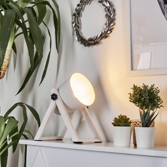 Novilly Lámpara de Mesa Blanca, 1 luz