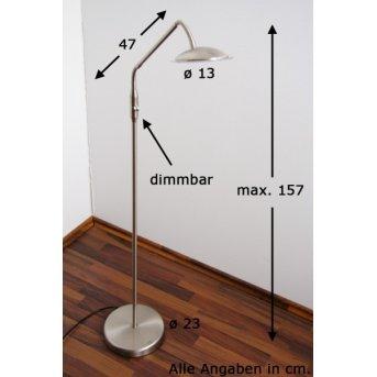 Wofi TWIN Lámpara de pie LED Níquel-mate, Acero inoxidable, 1 luz