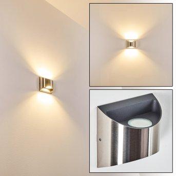 Vano Aplique para exterior LED Níquel-mate, 2 luces