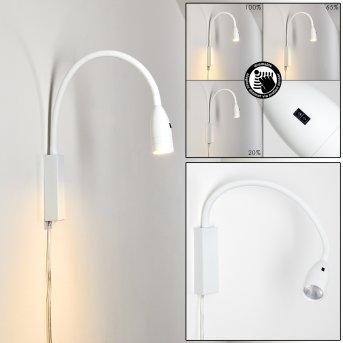 Alsea Lámpara de cama LED Blanca, 1 luz, Sensor de movimiento
