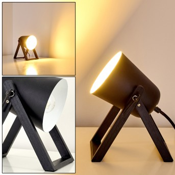 Novilly Lámpara de Mesa Negro, 1 luz