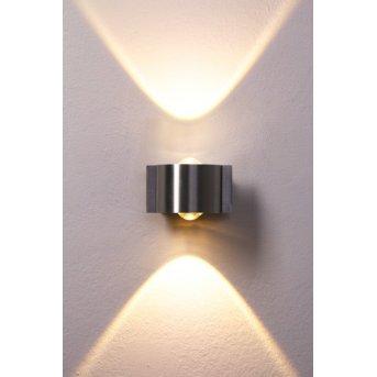B-Leuchten Stream Aplique LED Acero inoxidable, 2 luces
