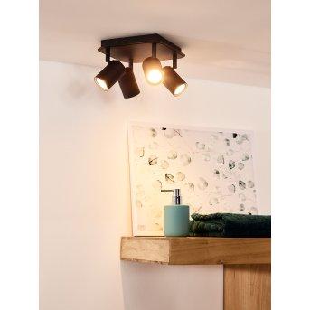 Foco de techo Lucide LENNERT LED Negro, 4 luces