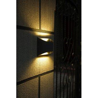 Lutec BONN Aplique LED Antracita, 2 luces