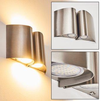 Cornus Aplique para exterior LED Acero inoxidable, 4 luces