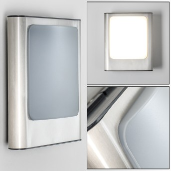 Kimola Aplique para exterior LED Níquel-mate, 1 luz