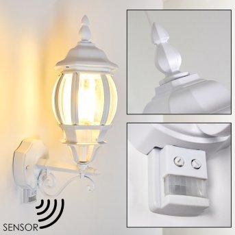 Lentua Aplique para exterior Blanca, 1 luz, Sensor de movimiento