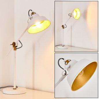 Luven Lámpara de Mesa LED Blanca, 1 luz